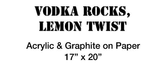 Vodka Rocks Lemon Twist